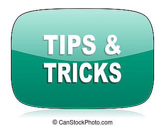 tips tricks green icon