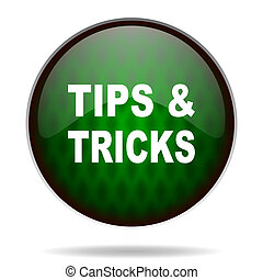 tips tricks green internet icon