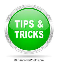 tips tricks green modern design web glossy icon