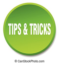 tips & tricks green round flat isolated push button