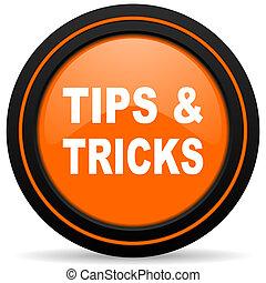 tips tricks orange icon