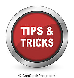 tips tricks red icon