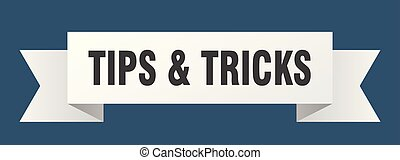 tips & tricks ribbon. tips & tricks isolated sign. tips & ...
