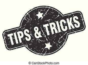 tips & tricks round grunge isolated stamp