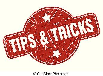 tips & tricks vintage stamp. tips & tricks sign