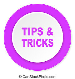 tips tricks violet pink circle 3d modern flat design icon on white background