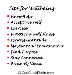 tips, wellbeing