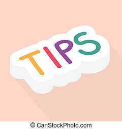 tips word concept - vector illustration