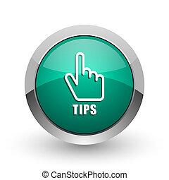 tips, zilver, metalen, chroom, web ontwerp, groene, ronde,...