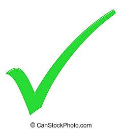 tique, 3d, signe