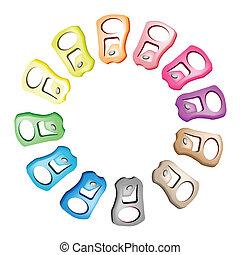 tirón, tema, verde, reciclar, mundo, anillo, excepto