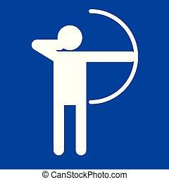tir arc, graphique, figure, symbole, illustration, vecteur, sport