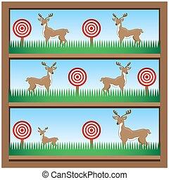 tir, cerf, galerie, chasse