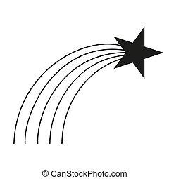 tir, noir, blanc, silhouette, étoile