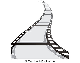 tira, carrete, película, onda