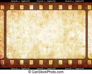 tira, película, espacio