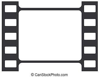 tira, película, ilustración, vector