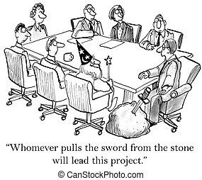 tira, piedra, espada, whoever
