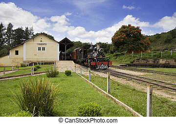 Tiradentes - The historic Steam Locomotive in Liradentes. A...