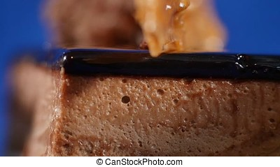 Tiramisu cake. Tiramisu cake on plate with fork isolated on...
