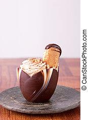 Tiramisu in a chocolate cup