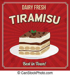 Tiramisu retro poster