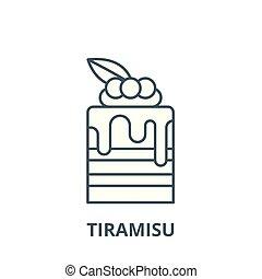 Tiramisu vector line icon, linear concept, outline sign, symbol