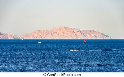 Tiran Island in the Red Sea. Egypt, Sharm El Sheikh.