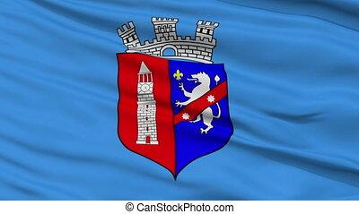 Tirana City Close Up Waving Flag - Tirana Capital City Flag...