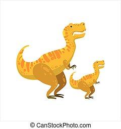 tirannosaurus, rex, prehistórico, espécimen, monstruo, ...