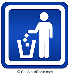 tirar basura, no
