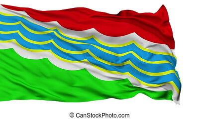 Tiraspol City Isolated Waving Flag