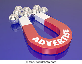 tirata, clienti, allettare, marketing, prospettive, magnete, nuovo, pubblicizzare, trovare