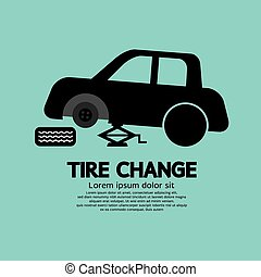 Tire Changing Graphic. - Tire Changing Graphic Vector ...