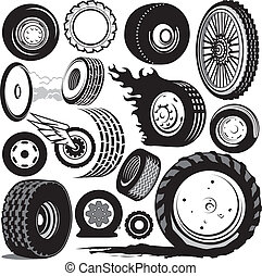 Tire Collection - Clip are collection of various tires and ...