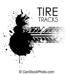 Tire design over white background, vector illustration