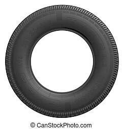 Tire - Detailed tire (3d render)
