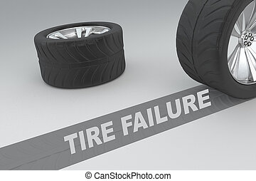 Tire Failure concept