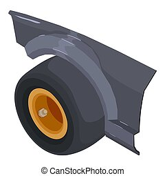 Tire fitting icon. Isometric illustration of tire fitting icon for web
