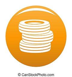 Tire fitting icon orange