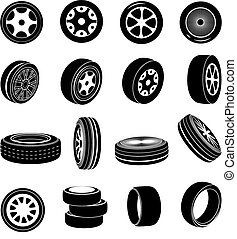 Tire icons set