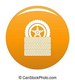 Tire leap icon orange