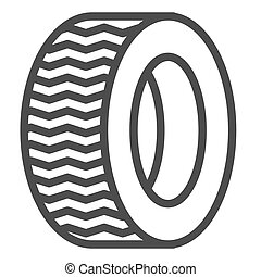 Tire line icon. Car wheel vector illustration isolated on white. Auto disk outline style design, designed for web and app. Eps 10.