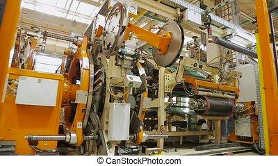 Tire manufacture robotic equipment - Tires production plant....