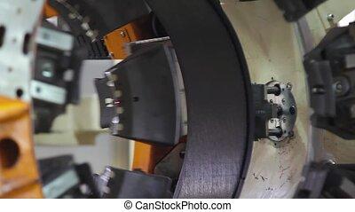 Tire manufacture robotic machine - Tire production machine...