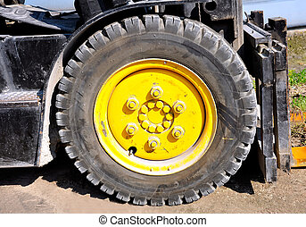 Tire of a forklift truck