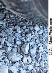 Tire on gravel road - HD