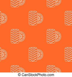 Tire pattern vector orange