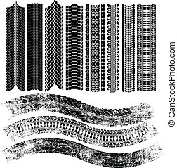 tire patterns - set of vector tire patterns