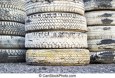 Tire Pile in A Racing Circuit